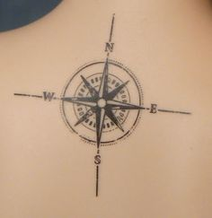 compass on the backs