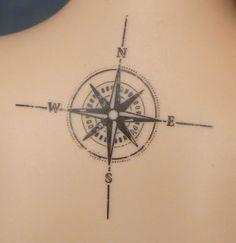 compass on the backs