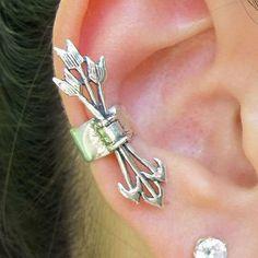 Antique Arrow Set Fashion Ear Cuff (Single, No Piercing) on Wanelo