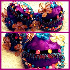 Flower and Butterly Rave Bra. $65.00, via Etsy.