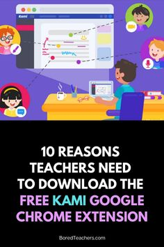 Kami is a Google Chrome Extension that will transform remote learning into interactive, engaging digital lessons and make teachers' lives easier. Google Chrome, Google Classroom, Educational Technology, Extensions, Teacher, Professor, Hair Extensions, Full Sew In
