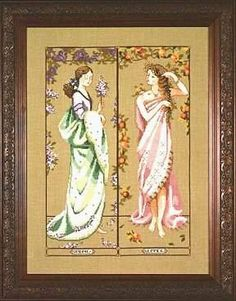 Amazon.com: Maidens of the Seasons I, Cross Stitch from Mirabilia: Arts, Crafts & Sewing