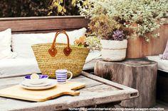 French market bag French market tote Basket Straw by Spiralspiral