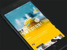 Restaurant app with facebook origami prototype by Angel Bartolli