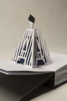 pop up book by Enci Bognár, via Behance Pop Up, Kirigami, Paper Design, Book Design, Paper Pop, Paper Engineering, Up Book, Pattern Drawing, Book Binding