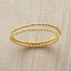 Delicato ring duo from Sundance catalog.  18k gold vermeil.