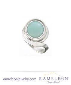 Lindsay's Pick: Kameleon Twist Ring with Creme de Menthe JewelPop!  Ring - #KR011 JewelPop - #KJP074