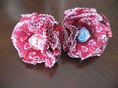 Cupcake Liner Lollipop Flowers