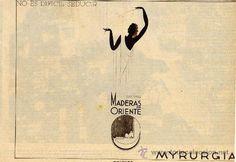 MYRURGIA 1936 MADERAS DE ORIENTE POLVOS  publicidad