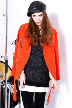#Romwe Black Short-sleeved Magyar Pullover