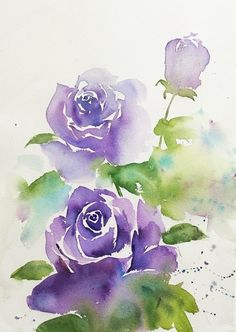 40 Realistic But Easy Watercolor Painting Ideas You Haven't Seen Before - 40 Re. - 40 Realistic But Easy Watercolor Painting Ideas You Haven't Seen Before – 40 Realistic But Easy Watercolor Painting Ideas You Haven't Seen Before – Watercolor Flowers Tutorial, Watercolor Rose, Watercolor Landscape, Watercolor Cards, Simple Watercolor, Watercolor Animals, Watercolor Background, Abstract Watercolor, Watercolor Illustration