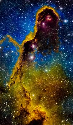 Elephant Trunk Nebula IC 1396 Hubble Palette Credit: NASA/Hubble, Color/Effects … - Milky way Galaxy Cosmos, Hubble Space Telescope, Space And Astronomy, Nasa Space, Astronomy Science, Space Photos, Space Images, Carina Nebula, Orion Nebula