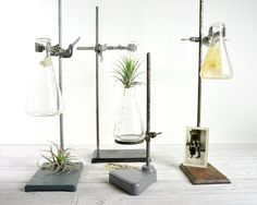 Vintage Industrial Laboratory Stand / Lab Metal Stand / Industrial Decor - $38