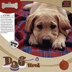 Dog Scrapbooking Ideas | dog scrapbook page ideas - Images by clara | Scrapbook Inspiration ...