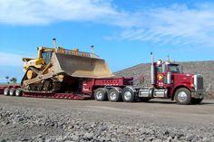 7 axles definitely full up and maxed out. Heavy Duty Trucks, Big Rig Trucks, Heavy Truck, Dump Trucks, Cool Trucks, Big Tractors, Best Trailers, Truck Transport, Custom Big Rigs