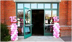 GREAT IDEA and BEAUTIFUL. Have a Balloon stand at the Quinceañera reception inside for decorations and or outside to point people in the direction that they are at the right place. \\ Photo Credit: Yelena Tsioma Photography #Quince #Quinceanera