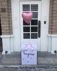 Best Friend Birthday Cards, Happy Birthday Gifts, Birthday Box, Balloon Box, Balloon Gift, Boyfriend Gift Basket, Diy Gifts For Boyfriend, Bff Gifts, Best Friend Gifts