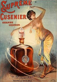 vintage advertisement for Supreme Cushier liqueur Vintage French Posters, Pin Up Vintage, Pub Vintage, Vintage Advertising Posters, Old Advertisements, Vintage Labels, Vintage Signs, French Vintage, French Art