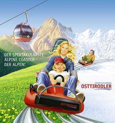 Der spektakulärste Alpine Coaster der Alpen! Tandem, Alpine Coaster, Berg, Coasters, Summer Vacations, Adventure, Coaster, Tandem Bikes