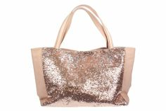 Sleep Over Bag Pale Pink - Large glamorous pink canvas tote bag with pink sequins on one side. Makes for the perfect girlfriend gift. Great for the beach or pool, carting books, or a fun sleepover carry all!