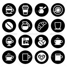 Coffee Icon Set (Food) | DailyDesignMag
