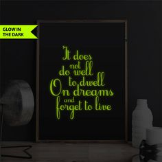Harry Potter Decor Print Glow In The Dark Print Harry Potter Quote Wall Print 8x10 Harry Potter Gift Book Quote Bedroom Decor It Does Not Do by FixateDesigns on Etsy