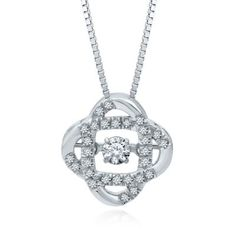 The Beat of Your Heart™ 1/4 ct. tw. Diamond Pendant in 14K Gold, available at #HelzbergDiamonds