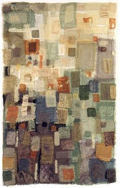 rosemary claus - frayed edges - hand sewn - over-dyed - layers - sheers cubist style abstract contemporary textile art work Fiber Art Quilts, Textile Fiber Art, Textile Artists, Quilt Inspiration, Impression Textile, Creation Art, Creative Textiles, Art Abstrait, Fabric Art