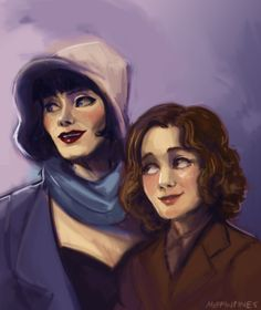 im so sick and sad i needed to draw so heres a miss fisher and dot
