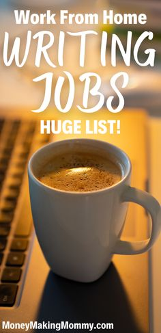 If you're looking for writing jobs you can do from home, even if you're a beginning writer -- you'll want to see this list of all kinds of writing jobs. Everyone of them allow you to earn extra money or even a full time income writing online. All you need is a laptop and an internet connection... oh -- and strong coffee for those dead lines! Online Side Jobs, Online Writing Jobs, Freelance Writing Jobs, Work From Home Companies, Online Work From Home, Work From Home Jobs, Make Money Today, Earn Money From Home, Way To Make Money