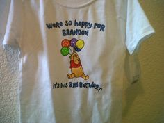 Playera Brandon 2nd Birthday, by jenny