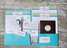 New client welcome folder for Emily Crump Photography