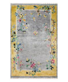 Another great find on #zulily! Gray Floral Darrin Rug #zulilyfinds
