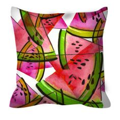 A PROPER PICNIC PINK Summer Watermelon Fruit Pattern Foodie Art Watercolor Decorative Suede Throw Pillow Cushion Cover by EbiEmporium on Etsy, #colorful #watermelon #watermelonpattern #pattern #pink #coral #fruit #picnic #watercolor #summerdecor #summer #summerhome #homedecor #foodie #yum #ebiemporium #colorful #girly #suede #suedepillow #pillowcover #throwpillow #bedroom #bedding #decorative #designer #ebiemporium