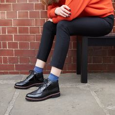 Work androgynous charm into your weekday wardrobe with these boyish but sleek hiker boot-inspired treads.