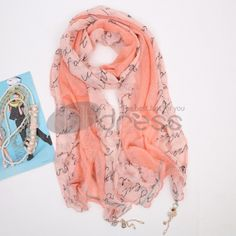 Ladies new stitching pendant scarf