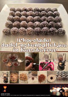 (Chocolade) dadel-notenballetjes in Kerstsfeer: https://goodinfood.wordpress.com/2014/12/24/chocolade-dadel-notenballetjes-in-kerstsfeer/