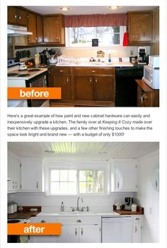 Easy Kitchen update...before and after