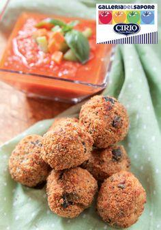 #Polpette di #spada con #gazpacho    #Cirio, gusta le nostre #ricetta. #recipe #fish