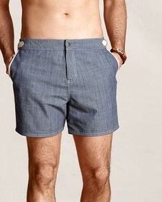 "men's 5"" clean board shorts"