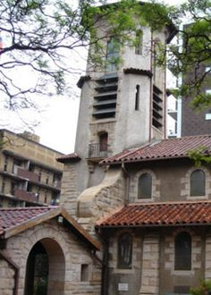 The Friedenskirche Evangelical Lutheran Church sits snugly amongst the high rises of Hillbrow,JHB,South Africa Lutheran, South Africa, Landscape Photography, Past, Cathedral, Cities, Buildings, African, Mansions