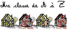 Arts plastiques à partir de l'album : Ma classe de A à Z (travaille alphabet, graphisme... Voir où en sont les élèves en début d'année)