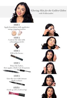 A red carpet staple: glowing skin. Get Chloé Zadori's step by step makeup tutorial for creating the look here.