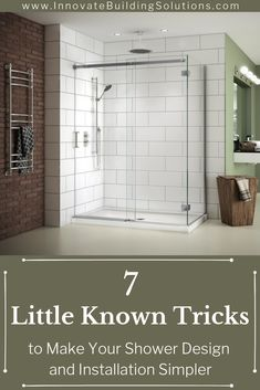 Home Remodeling Tips With these little known tricks we can make you shower design and installation simpler than ever before! Check it out here Basement Remodeling, Bathroom Renovations, Remodeling Ideas, Bathroom Makeovers, Innovation, Shower Installation, Shower Wall Panels, Shower Curtains, Walk In Shower Designs