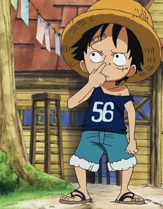 Omg Monkey D. Luffy as a kid his still the same