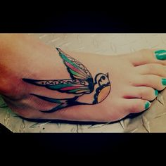 sparrow bird tattoo