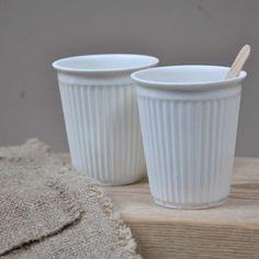 Gobelet café en porcelaine - Le Repère des Belettes