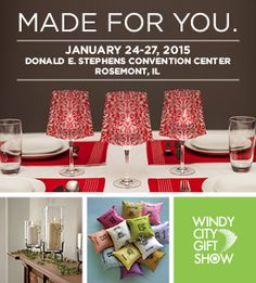 The Windy City Gift Show will provide the perfect meeting point for the industry. In addition, this show's selection will be custom tailored to reflect the regional tastes and interests of the area– its strong seasonal business, great lakes and coastal towns, lodges and resorts.
