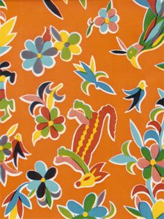 Oilcloth - Aztec - Orange