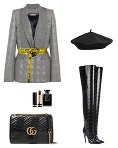 """Untitled #50"" by peterpan130395 ❤ liked on Polyvore featuring Alexander McQueen, Off-White, Balenciaga, M&Co, Gucci and Chanel"